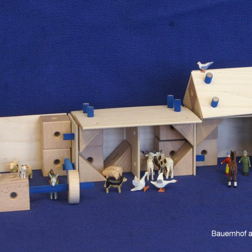 Aufbauset zum Holzbaukasten mit 88 Teilen