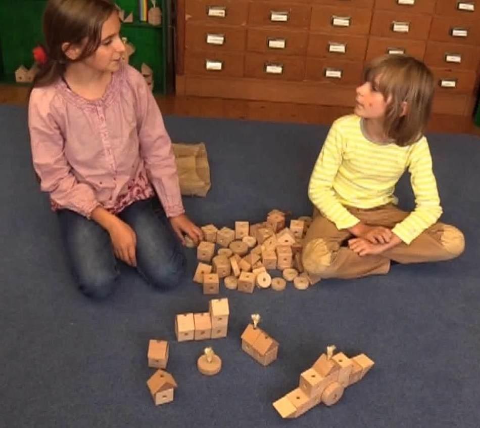 So sieht die Testabteilung für den Holzbaukasten aus